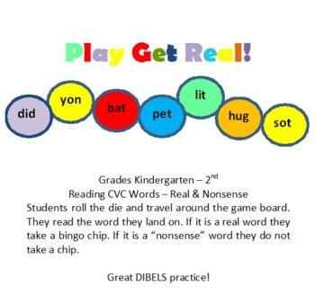 Real/Nonsense Word Board Game