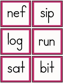 Real/Nonsense Word Game- Gobble Gobble!