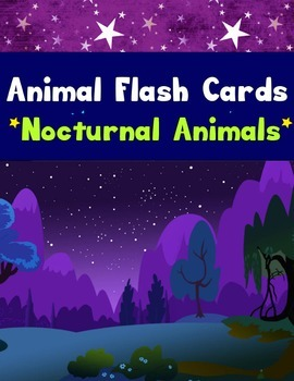 Realia Photo Animal Flash Cards - Nocturnal Animals