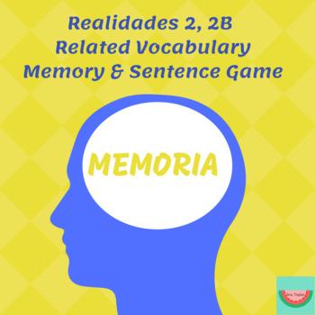 Realiadades 2 2B Memory & Sentence Game
