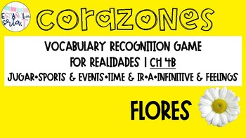 Realiades 1 4B Sports, Events, Time, Feelings, Ir Vocab recognition game