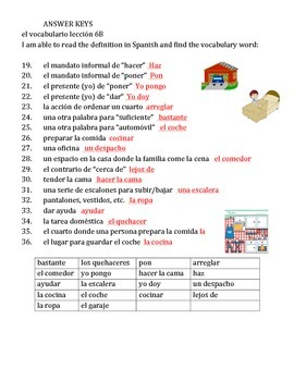 Realidaded 6B vocabulary worksheets (2)