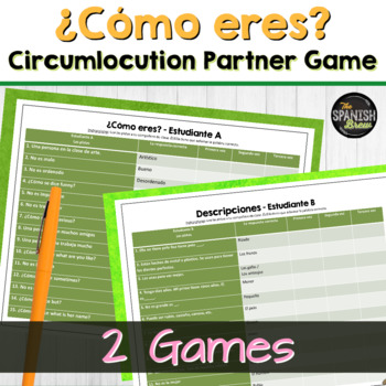 "Spanish 1 (Realidades 1A-1B) Bundle- ""Tres veces"" Circumlocution/vocab game"