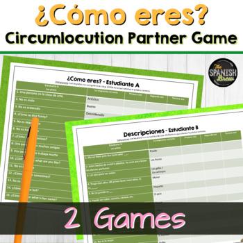 Spanish 1 Circumlocution/vocab game- Activities & descriptions w/ adjectives