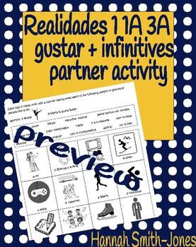 Realidades 1 1A 3A gustar bell ringer partner activity