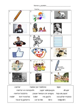 Realidades 1 - 1A Vocab Wksht or Quiz