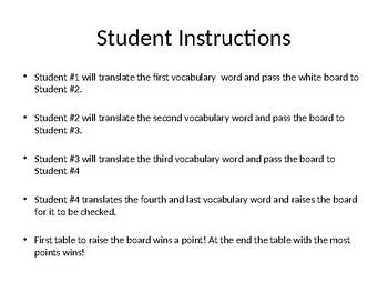 Realidades 1 1A Engaging Writing Game