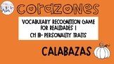Realidades 1 1B Descriptions Vocabulary Recognition Game C