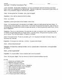 Realidades 1 1B Reading Comprehension Quiz