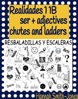 Realidades 1 1B ser adjectives chutes and ladders