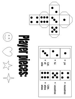 Realidades 1 2A Spanish -ar verbs chutes and ladders