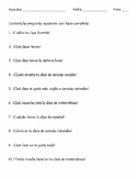 Realidades 1 2A Vocabulary and Interrogatives Practice
