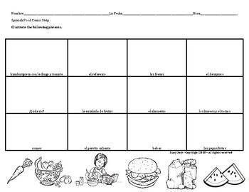 Spanish Foods Comic Strip Activity