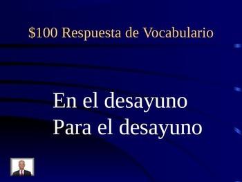 Realidades 1: 3A Jeopardy