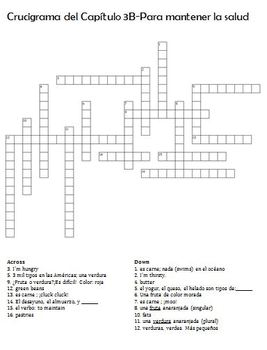 Realidades 1 3B - Crossword Puzzle / Crucigrama by ...