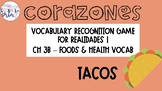 Realidades 1 3B Foods Health Vocabulary Recognition Game Tacos