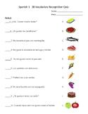 Realidades 1 3B Vocabulary Quiz