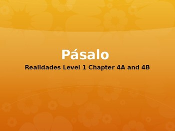 Realidades 1 4A & 4B Engaging Writing Game