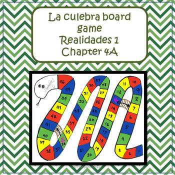 Spanish 1 (Realidades 4A) review of El centro/ la comunidad: board game