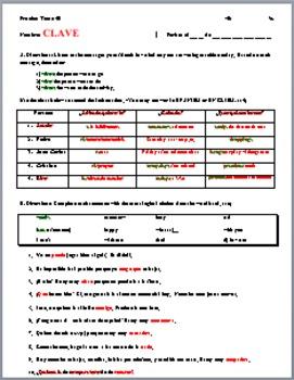 Realidades 1 4B Grammar and Vocabulary Quiz