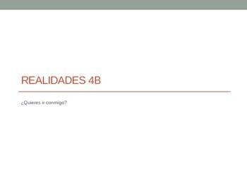 Realidades 1 - 4B Power Point (Vocab and Grammar)