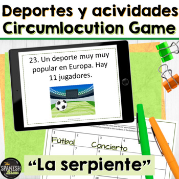 Spanish 1 (Realidades 4B) review game of activities, sports, verb ir