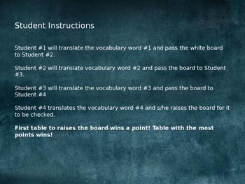 Realidades 1 5A & 5B Engaging Writing Game