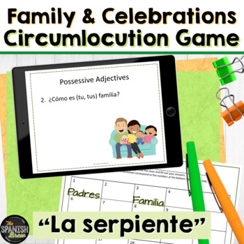 Spanish 1 (Realidades 5A) Vocab & Grammar review game: fam
