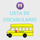 Realidades/Auténtico 1: 5B Lista de vocabulario
