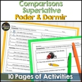 Spanish 1 worksheet- comparisons, superlative, poder, dormir