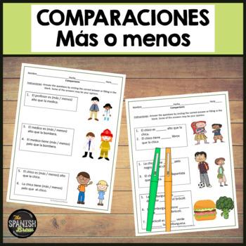 Realidades Spanish 1 6A grammar practice: comparisons