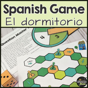 Realidades Spanish 1 6A review: board game- bedroom dormitorio
