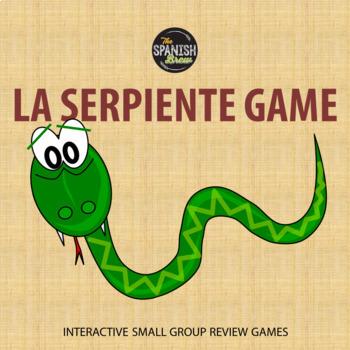 Spanish 1 game La Serpiente: casa, mandatos, presente progresivo