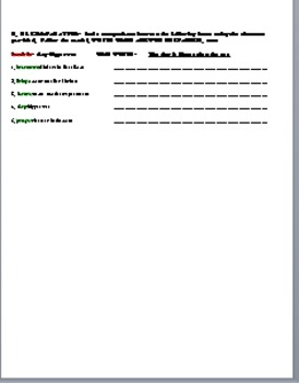 Realidades 1 6B Vocabulary and Grammar Quiz