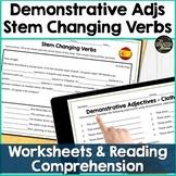 Spanish 1 Bundle: clothing, demonstrative adjectives, stem