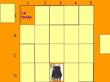 Realidades 1 7A Vocabulary Matching Game
