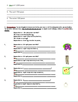 Realidades 1 7A Vocabulary Worksheet