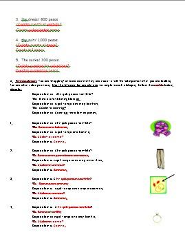 Realidades 1 7A Vocabulary Worksheet