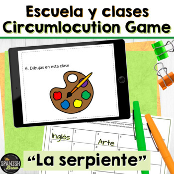 Spanish 1 (Realidades 2A-B) SCHOOL VOCAB review: game La Serpiente