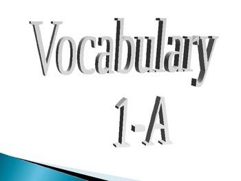 Realidades 1-A Vocabulary Slides