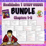 Realidades 1 ALL Chapters 1-9 Study Guide/Review Sheets