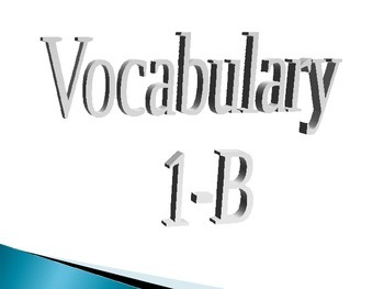 Realidades 1-B Vocabulary Slides