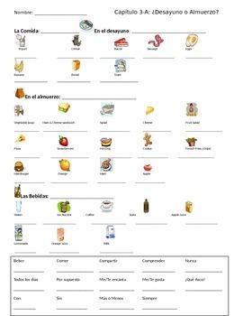 Realidades 1 CH 3A note sheet