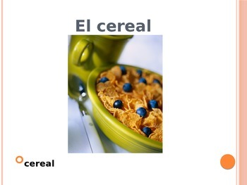 Realidades 1 CH 3A vocab powerpoint - desayuno o almuerzo