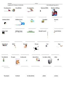 Realidades 1 CH 5A note sheet