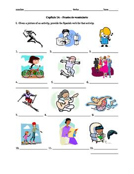Realidades 1 Capítulo 1A - Vocab quiz/practice on leisure activities