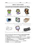 Realidades 1 Capítulo 6A vocab quiz/practice on bedroom items and colors