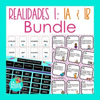 Realidades 1 (Capítulos 1A & 1B) Activities BUNDLE