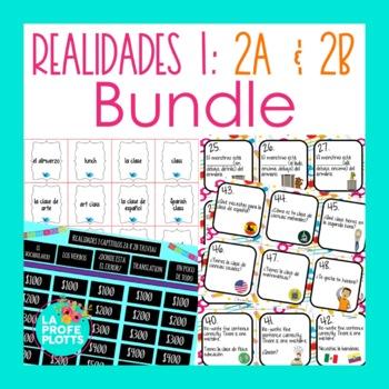 Realidades 1 (Capítulos 2A & 2B) Activities BUNDLE