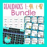 Realidades Auténtico 1 Capítulos 4A & 4B Activities BUNDLE | Games, Task Cards